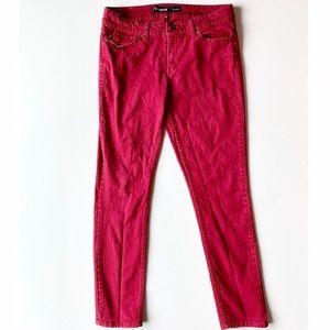 3/$15 Jordache jeans skinny red denim size 10